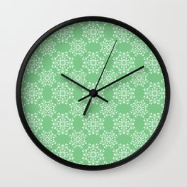 Sage Green Spring Lace Wall Clock