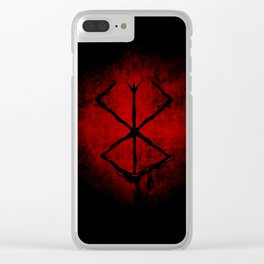 Black Marked Berserk Clear iPhone Case