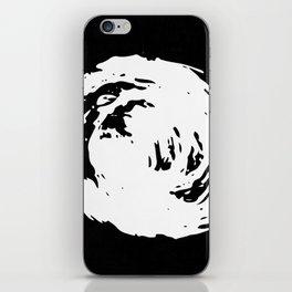 Whorl Black and White iPhone Skin