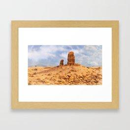 Desert Rock Framed Art Print