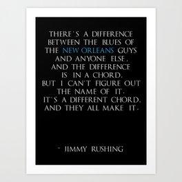 Jimmy Rushing Art Print