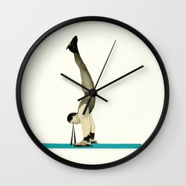 Skater Tricks Wall Clock