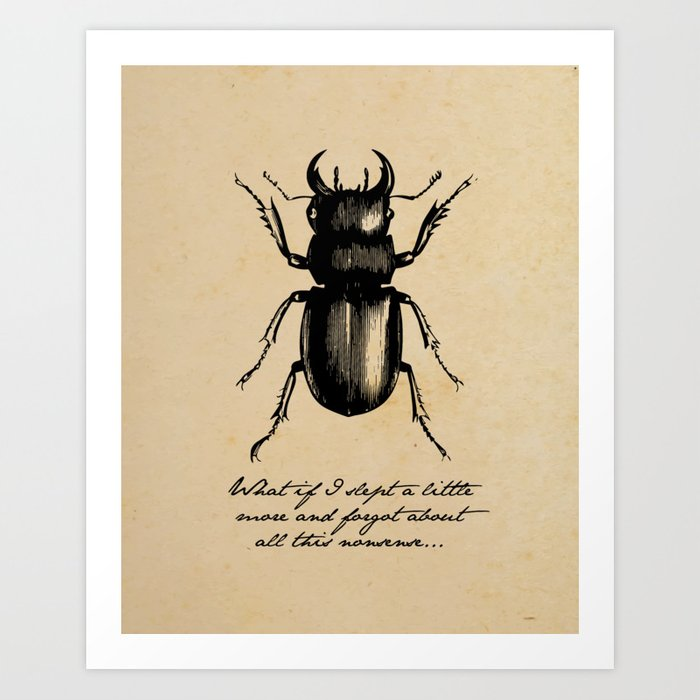 The Metamorphosis Franz Kafka Art Print By Fivepennystudio Society6