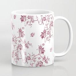 Penis Pattern RED Coffee Mug