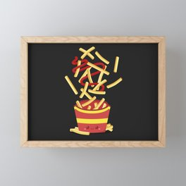 Extreme French Fry Making Framed Mini Art Print