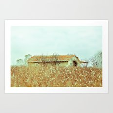 Hiding in Cotton Art Print