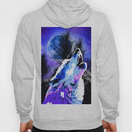 NEBULA WOLF MOON TREE MOUNTAIN SPARKLE Hoody