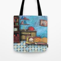 cinderella Tote Bags featuring Cinderella by Agnes Laczo