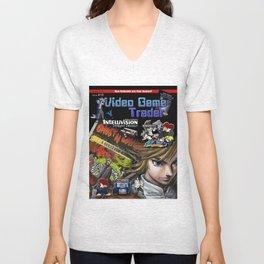 Video Game Trader #15 Cover Design Unisex V-Neck