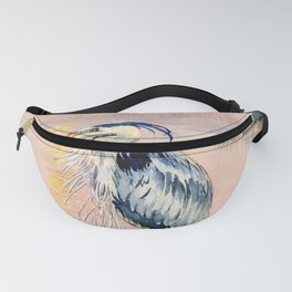 Great Blue Heron at Sunset Fanny Pack