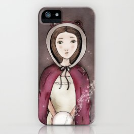 Girl & The Orb iPhone Case
