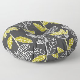 Abstract ornamental plants Floor Pillow
