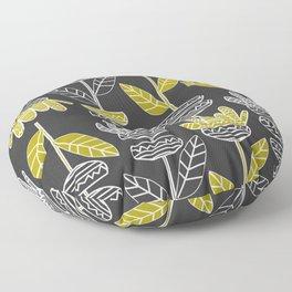 Abstract ornamental plants Floor Pillow