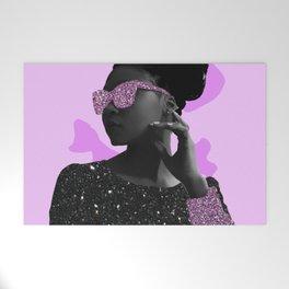 Rock Star Glitter Collage Welcome Mat