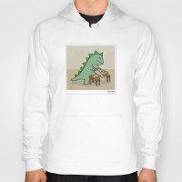 dinosaur Hoodies featuring Dinosaur by Masonic Comics