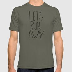 Let's Run Away: Columbia Gorge, Oregon Mens Fitted Tee LARGE Lieutenant