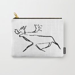 Ewenk deer carved on wood Carry-All Pouch