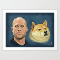 Josh Wise and Doge Art Print