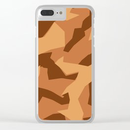 Army Camouflage Pattern Orange Sand Clear iPhone Case