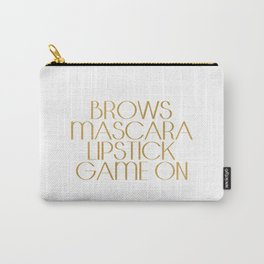 Fashion Quote Mascara Print Gift Women Typography quote Fashionista Fashion Print Wall art Home Art Carry-All Pouch