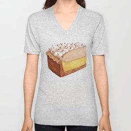 Coconut Cream Pie Slice Unisex V-Neck