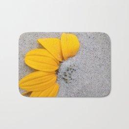 Sunflower in the Sand Bath Mat