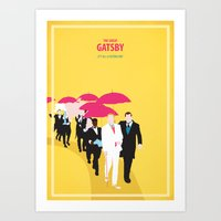 gatsby Art Prints featuring Gatsby by Fräulein Fisher