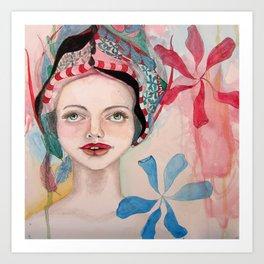Imps Girl Art Print