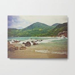caixadaço beach, trinidade, brazil Metal Print