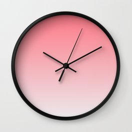 Red to White Ombre Shaded Strawberry and Coconut Sorbet Ice Cream Gelato Wall Clock
