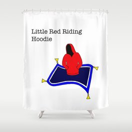 red riding hoodie, magic carpet Shower Curtain