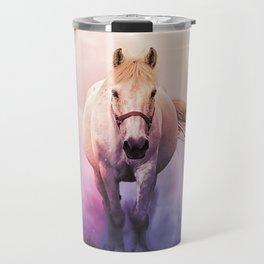 Romantic mystery horse illustration with full moon Travel Mug