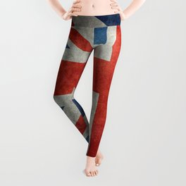 Square Union Jack retro style, made for the Pillows, Duvets and Shower curtains Leggings