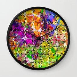 Color Buzz Abstract Wall Clock