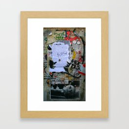 The Writings on the Wall Framed Art Print