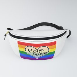 Pride Flag Love is Love-Water Color Graphic  Design  Fanny Pack