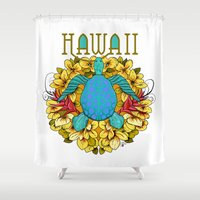 hawaii Shower Curtains featuring Hawaii by Renee Ciufo