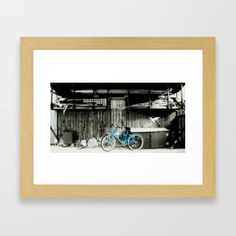 blue bike series 3.1 Framed Art Print