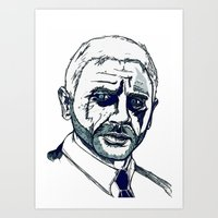 bond Art Prints featuring Bond. by Thomas Wright Illustration