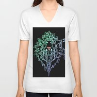 metal V-neck T-shirts featuring Metal! by ansinoa