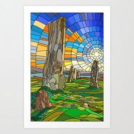 Calanais Sunset Art Print