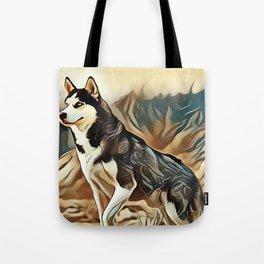 The Siberian Husky Tote Bag