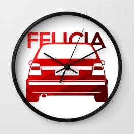 Skoda Felicia - classic red - Wall Clock