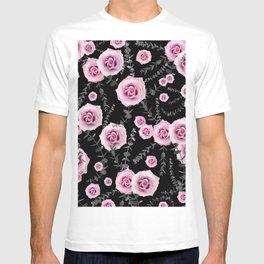 Night Beauty Rose Eucalyptus Pattern #5 #floral #decor #art #society6 T-shirt