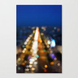 Paris Nighttime Traffic Canvas Print