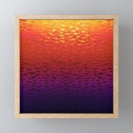 Sharks At Sunset Framed Mini Art Print