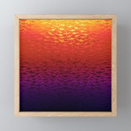 Sharks At Sunset Framed Mini Art Print
