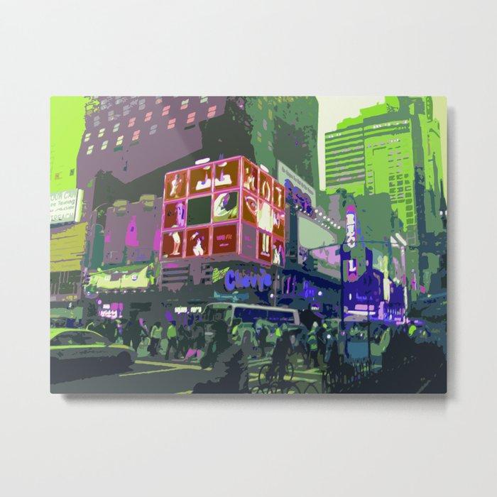 NY#10 Times Square3 Metal Print