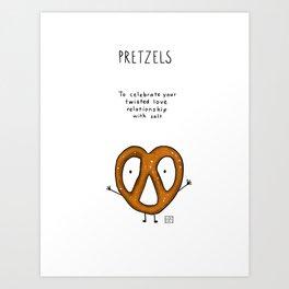 Pretzels! Art Print