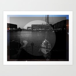 Dark Docks Art Print